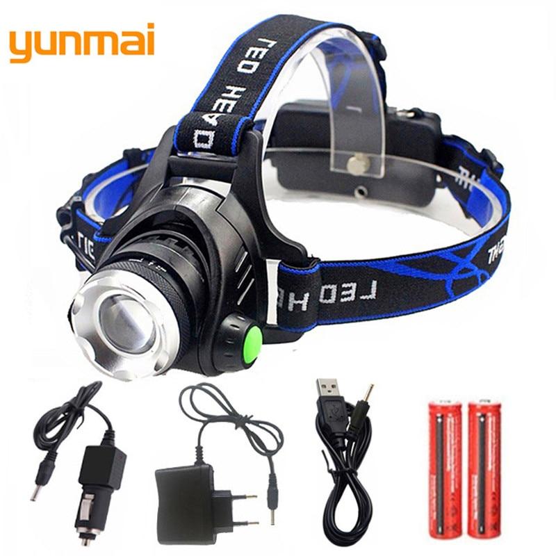 5000LM XML-L2/T6 Led Headlamp Zoomable Headlight Waterproof Head Torch Flashlight Head Lamp Fishing Hunting Light Camping Q16