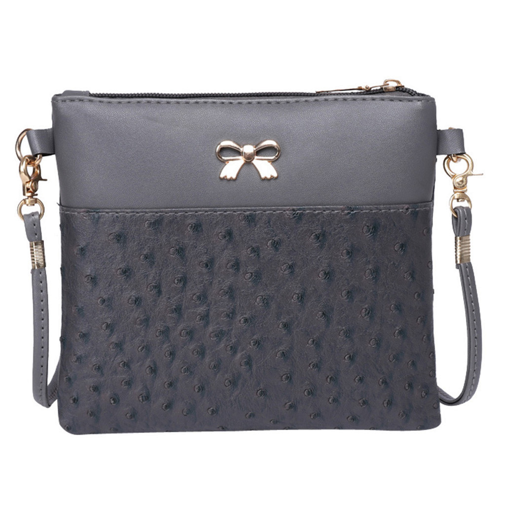 Dropshipping Decoration Women Bow Decoration Crossbody Bag Hit Color Shoulder Bags