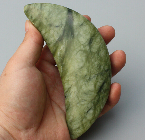 Craved natural green color stone material moon shape massage tool for health care морган райс craved