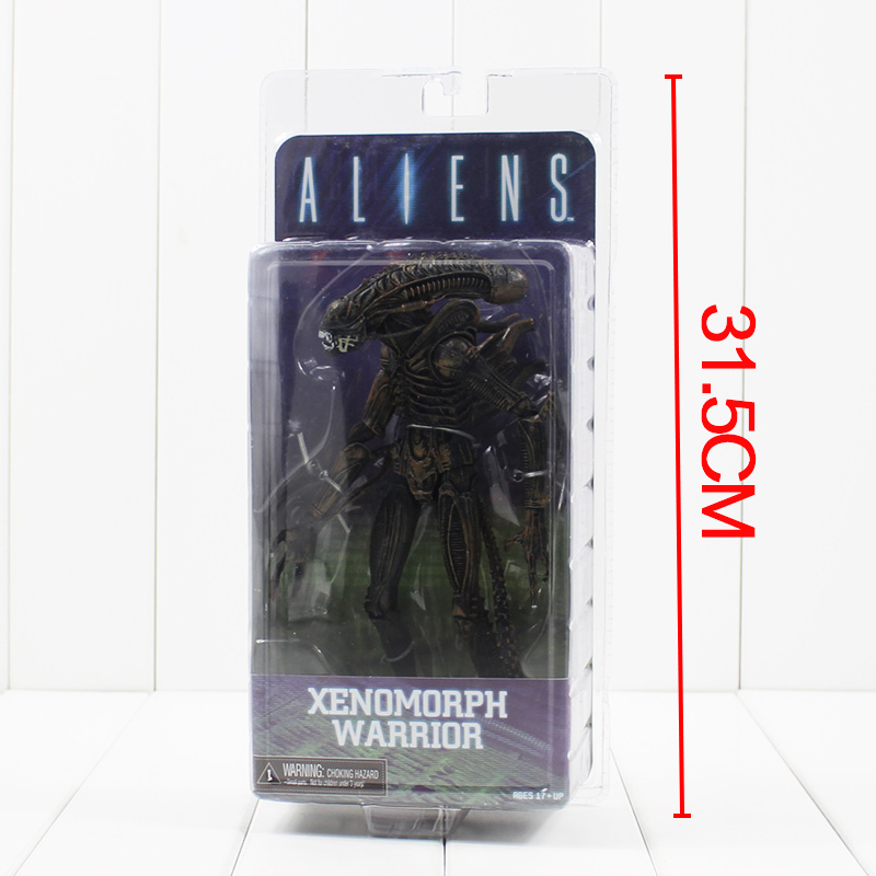 8'' 21CM NECA Aliens Xenomorph Warrior Series PVC Action Figure New in Box Free Shipping neca aliens 1 4 scale xenomorph warrior super big pvc action figure collectible model toy 18 retail box ems free shipping wu600