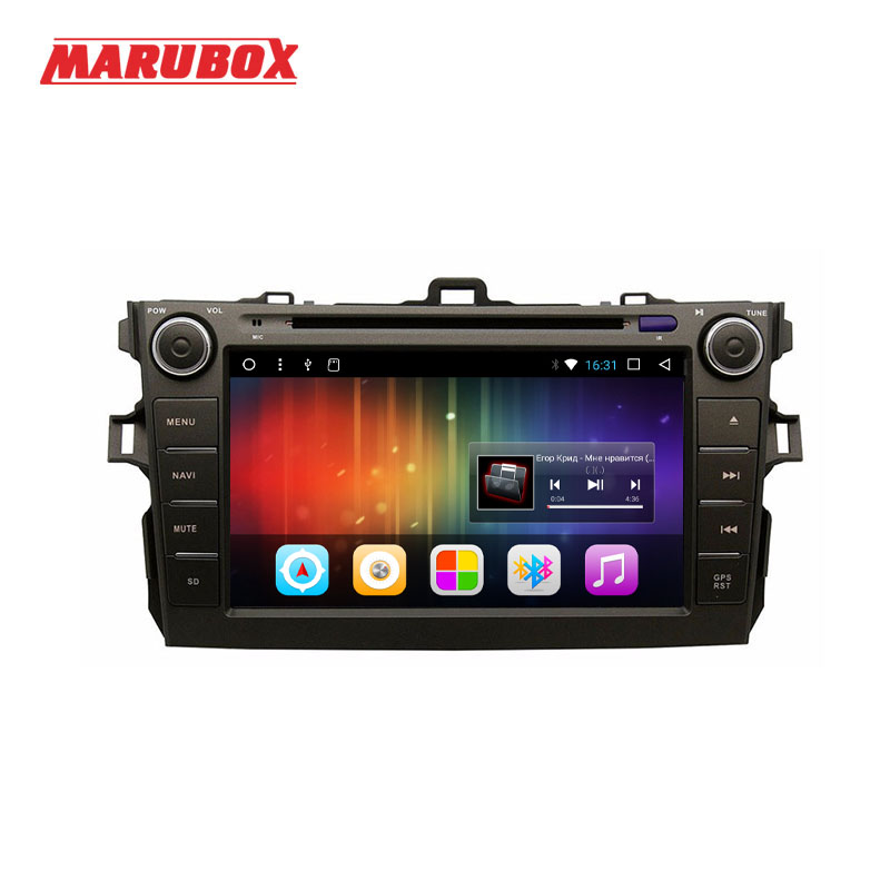 MARUBOX 2 Din Quad Core Android 7.1 For Toyota Corolla 2007-2011 GPS Navigation DVD Stereo Radio Car Multimedia Player M8A105DT3