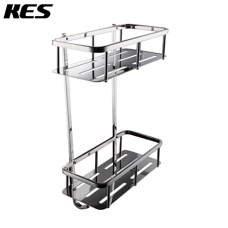 Etonnant KES A2221B Bathroom Corner 2 Tier Rectangular Tub And Shower Caddy Basket,  Polished Stainless Steel In Bathroom Shelves From Home Improvement On ...