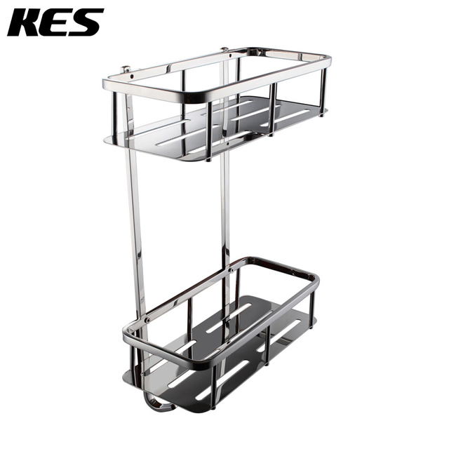 KES A2221B Bathroom Corner 2 Tier Rectangular Tub and Shower Caddy ...
