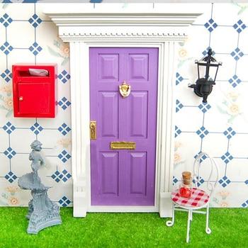 1/12 casa de muñecas miniatura Vintage buzón decoración de jardín ...