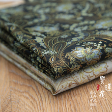 New arrival brocade jacquard polyester Small lotus flower fabric for felt patchwork sewing DIY women dress tissue bag cloth