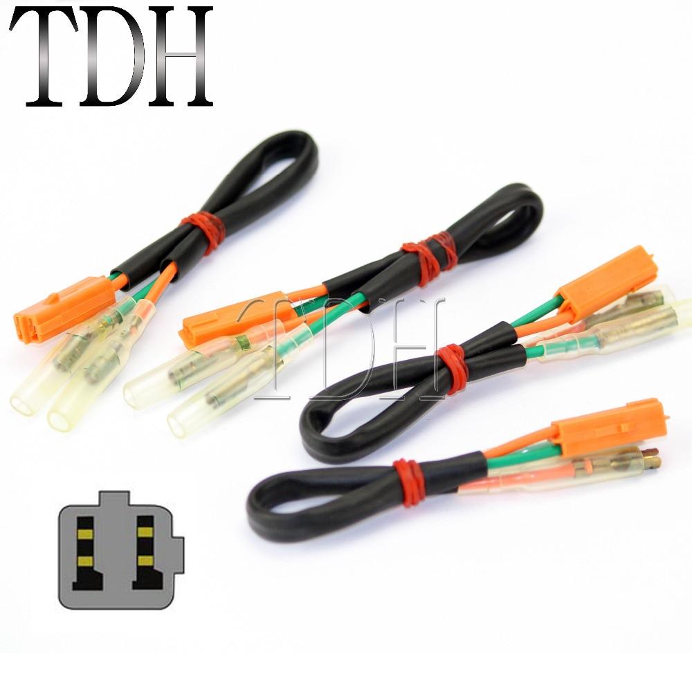 4PCS OEM Turn Signal Wiring Harness Connectors Adapter Plug For KAWASAKI Z125 Z250 Z300 Z650 Z900