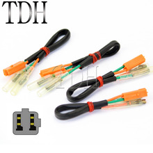 4PCS OEM Turn Signal Wiring Harness Connectors Adapter Plug For KAWASAKI Z125 Z250 Z300 Z650 Z900