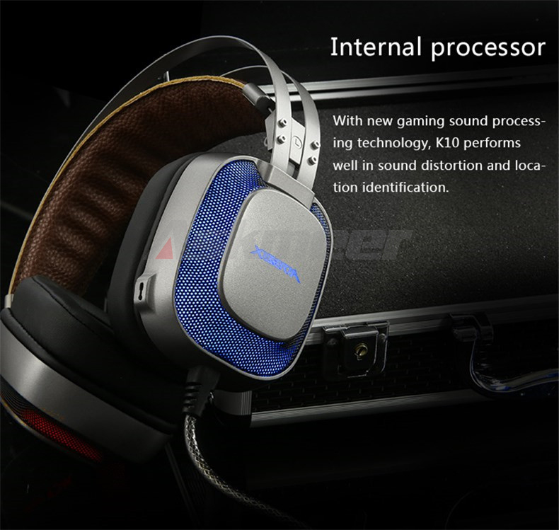 XIBERIA K10 Gaming Headphones casque USB Computer Stereo Heavy Bass Game Headset with Microphone LED Light for PC Gamer (15)