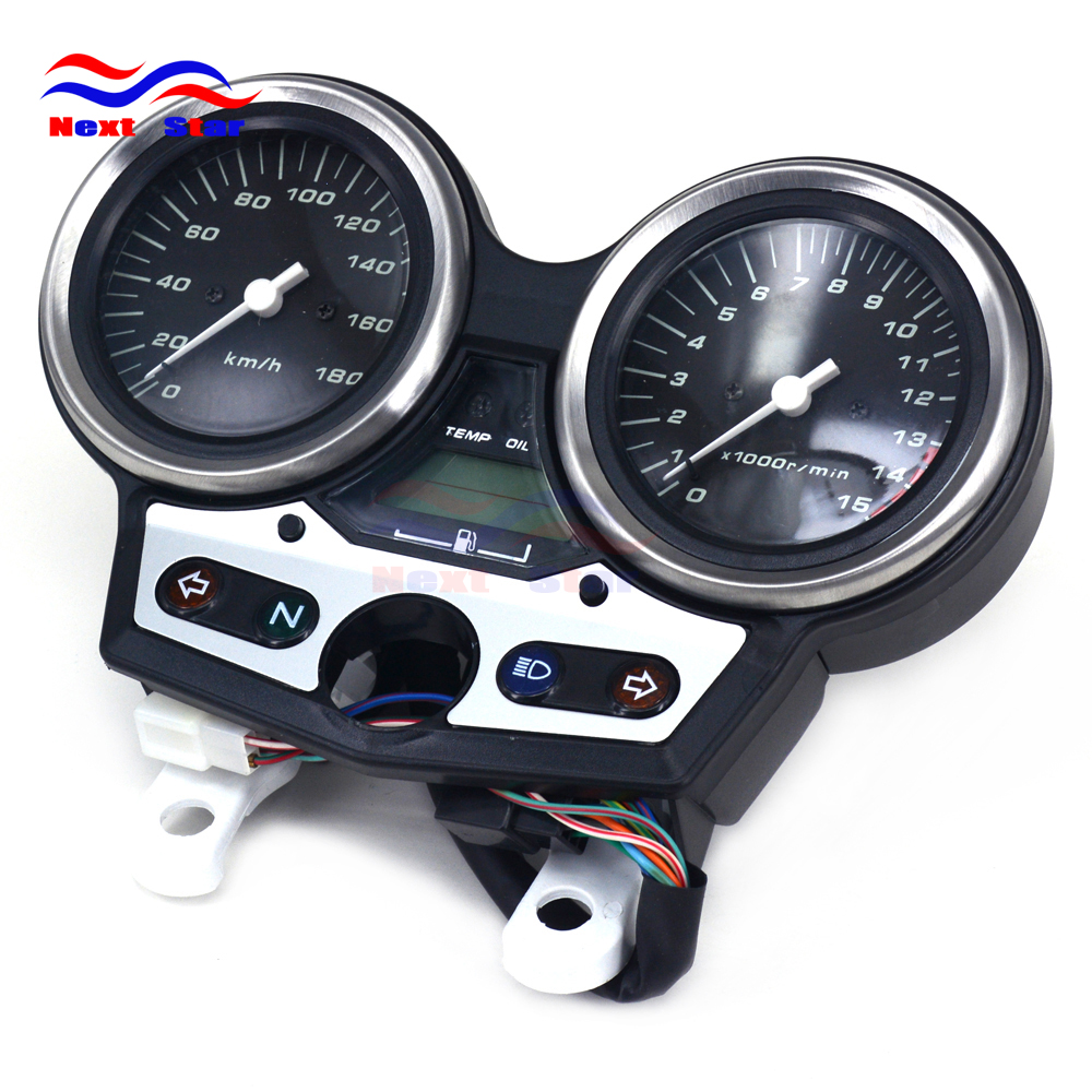 цена на Motorcycle 180 Tachometer Odometer Instrument Speedometer Gauge Cluster Meter For Honda CB400 CB 400 VTEC I 99 00 01 Street Bike