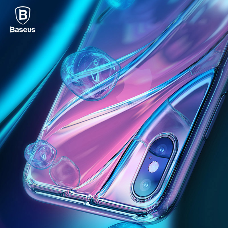 Baseus Fashion Flowing Water Pattern Case For iPhone X Transparent Soft Silicone Coque For iPhone X Case