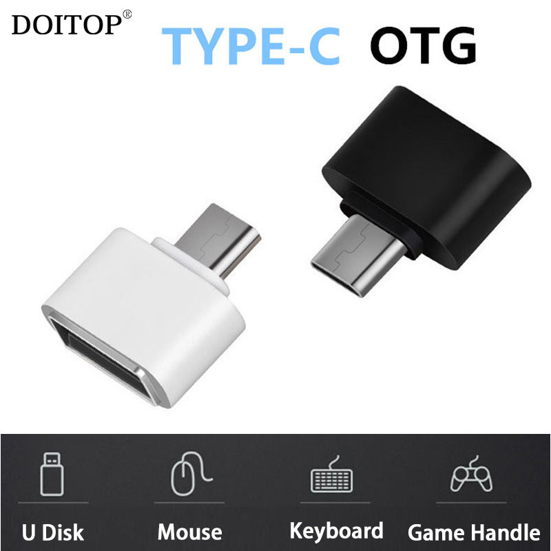DOITOP Type C OTG Adapter Type C 3.1 Male to USB 2.0 Female USB-C OTG Adapter Converter for U Disk Mouse Keyboard Game Handle jiahui usb female to ps2 male converter adapter for usb mouse keyboard black