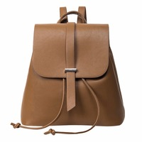 Casual PU Leather Backpack Women Preppy Chic School Bags For Teenage Girls Female Backpack Travel Bag