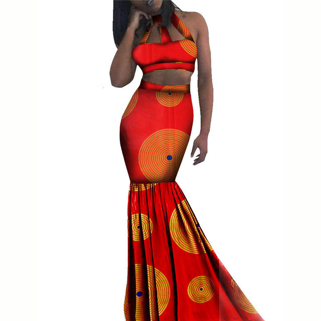 5b7cdcee4a9 Dashiki African Dresses For Women Sexy   Club Plus Size Ankara Dresses  Sleeveless Evening Dresses Lady Clothes