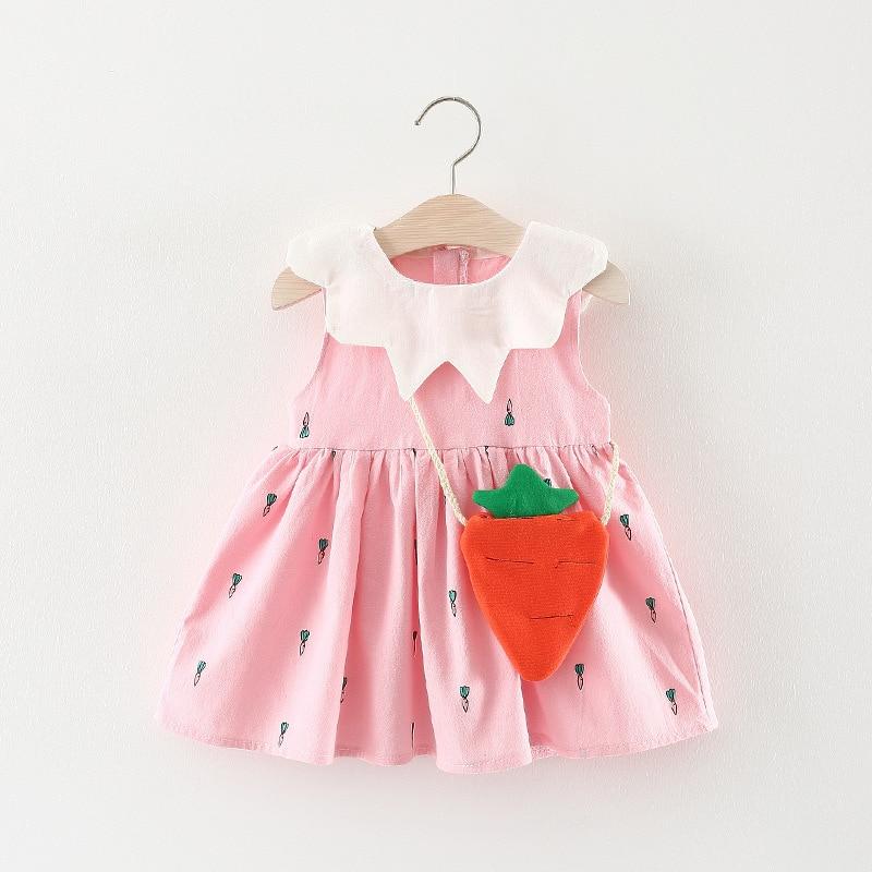 2018 letnie dziewczynek sukienka kwiatowy niemowlęcy sukienka - Odzież dla niemowląt - Zdjęcie 3