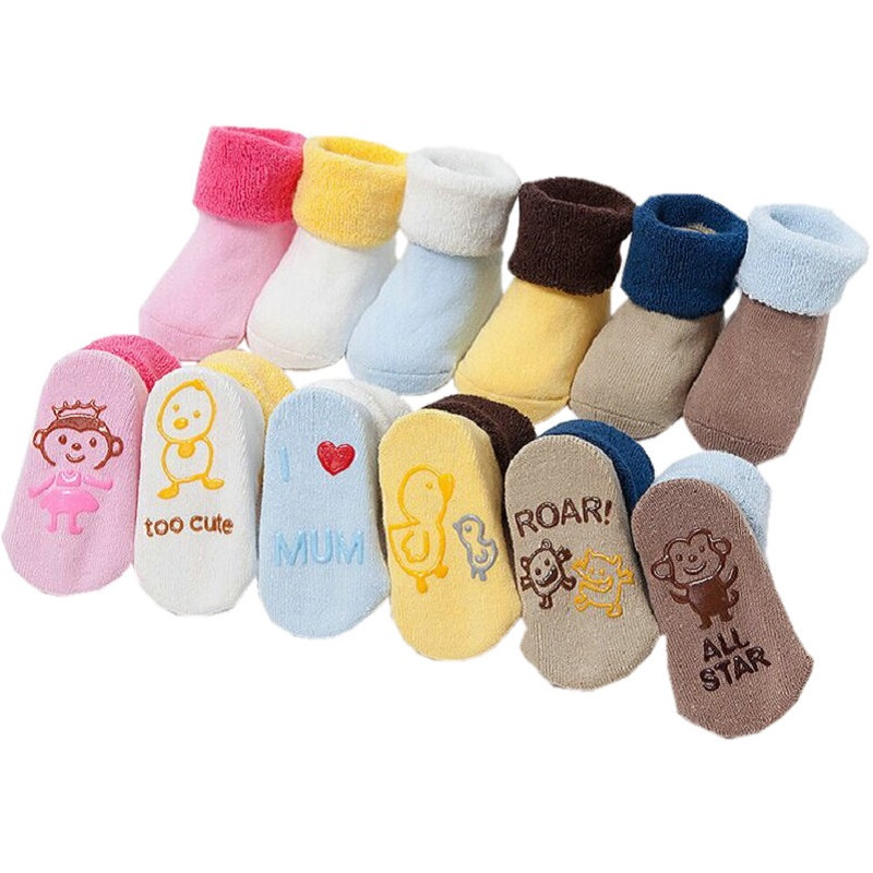 3 Pairs Set cotton Baby Socks For Baby Girl Baby Boy