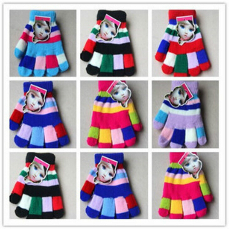 Children accessories HotSelling Candy Color Autumn Winter Thermal Children's Gloves Girl Boy Gloves Keep Warm Kid's Mittens