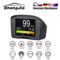 AUTOOL X50 Plus HUD Head up Display Multi Function Car OBD Smart Digital Meter Temperature Gauge Alarm Fault Code Voltage Speed