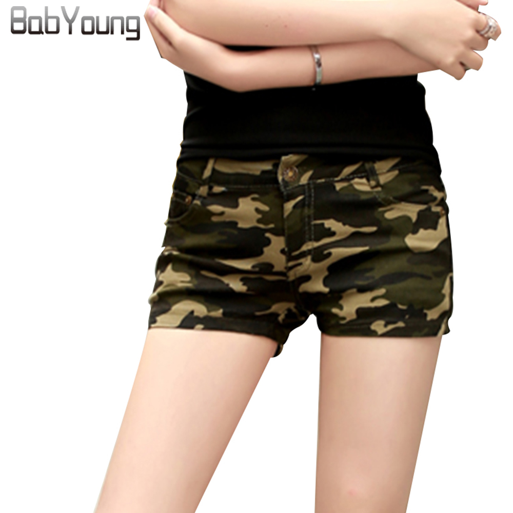 BabYoung Hot   Shorts   Skinny Women Military Camouflage Print Summer Sexy   Short   Feminino Pantaloon Femme Ladies   Shorts