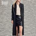 Black genuine leather coats 100% Lambskin windbreaker Long trench coat for winter autumn abrigos mujer casaco feminino LT861