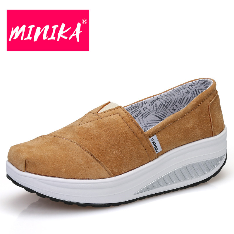 MINIKA Solid Colors Women Flat Shoes Thick Bottom Round Toe Women Casual Shoes Pu Leather Comfortable Women Platform Shoes minika breathable mesh lace shoes women thick bottom shallow mouth women casual shoes slip on flat shoes women high quality