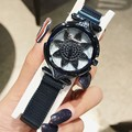 Новые модные офисные женские часы с большим циферблатом  красивые часы в форме цветка  легкие роскошные стильные женские наручные часы  нов...