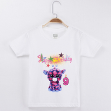 2019 Unicorn Clothes For Girls Birthday T Shirt Kid Cartoon Painting 100% Cotton Children Boy Costumes Baby Girl Tops Tees