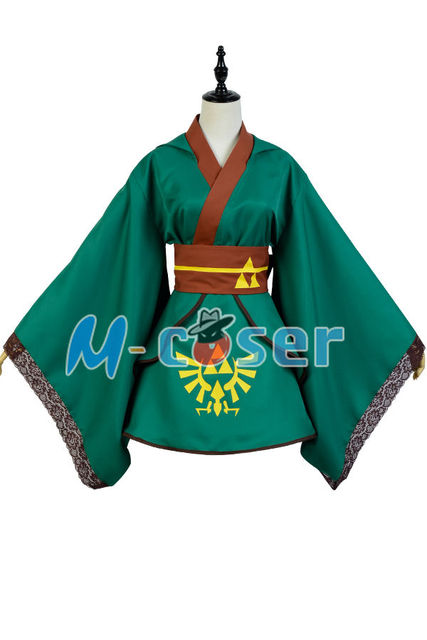 22580b8c9 The Legend of Zelda Female Link COSplay Costume Outfit Suit Girl Version  Dress For Women full set costume