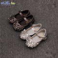 Baby Girls Shoes 2017 Spring New Children's Shoes Princess Polished Sequins Patent Lerther Dance Baby Shoes Bling Embellishment