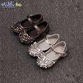 Meninas do bebê shoes 2017 nova primavera para crianças shoes princesa polido lantejoulas patente lerther baby dance shoes bling embelezamento