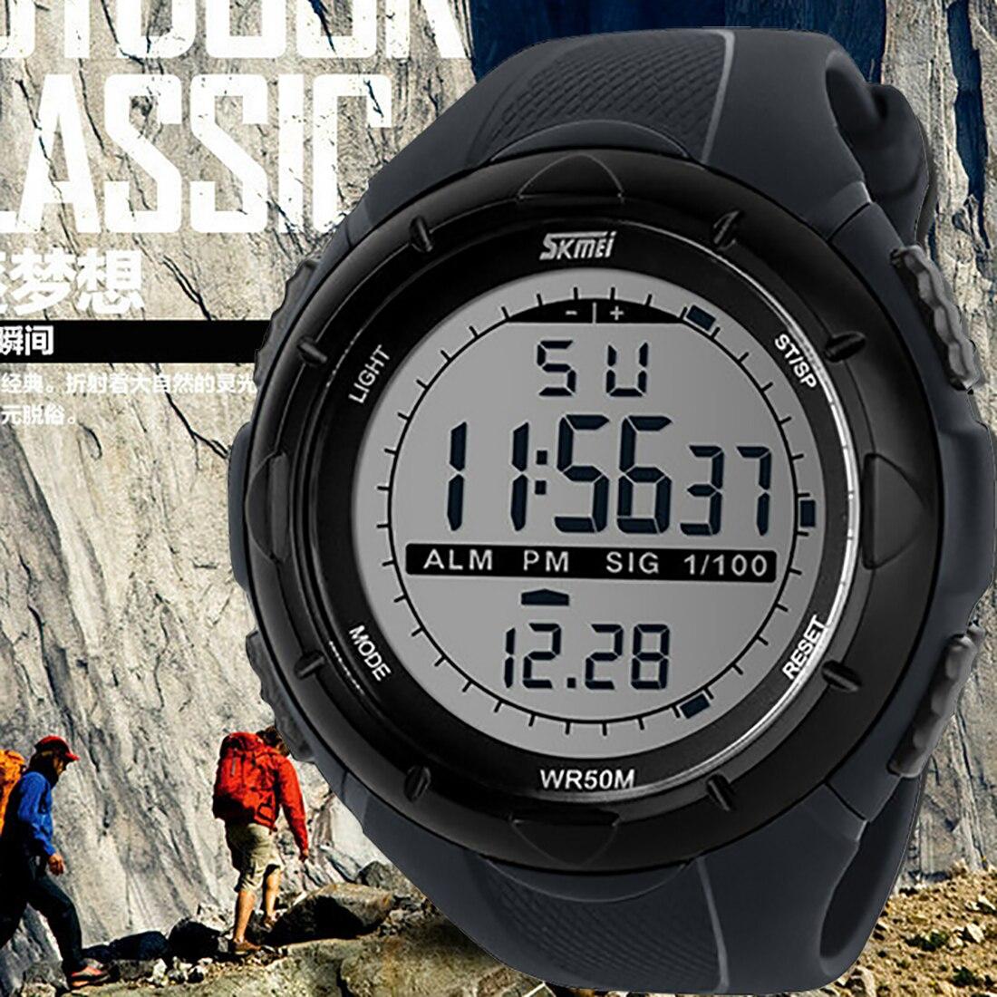 2016 new fashion font b Men s b font Military Watch Sports Watches 5ATM Dive Swim