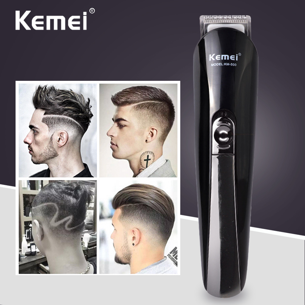Kemei Hair Trimmer Can Charged 6 In 1 Rechargeable Hair Trimmer Titanium Hair Clipper Electric Shaver Beard Trimmer Men Use male switchblade shaver grooming remover hair trimmer 2 in 1 mustache beard eyebrow hair trimmer shaver hair remover set
