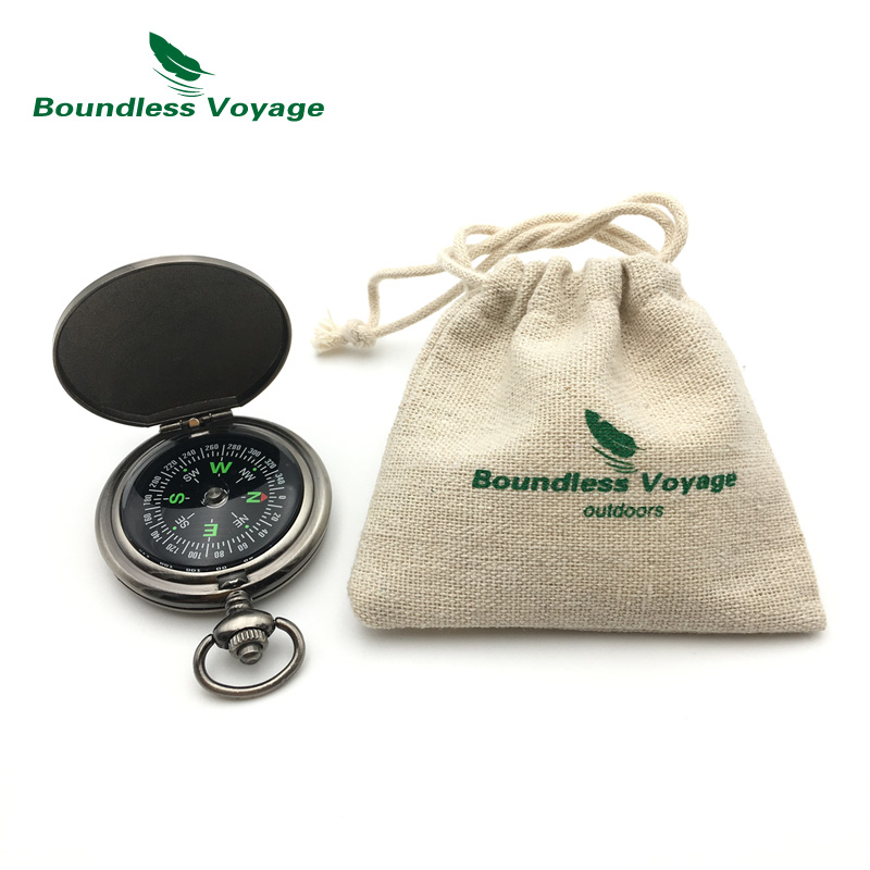 Boundless Voyage Pocket Retro Style Mini Compass Outdoor Portable Fluorescent Compass to Indicate Direction for Hiking,Climbing