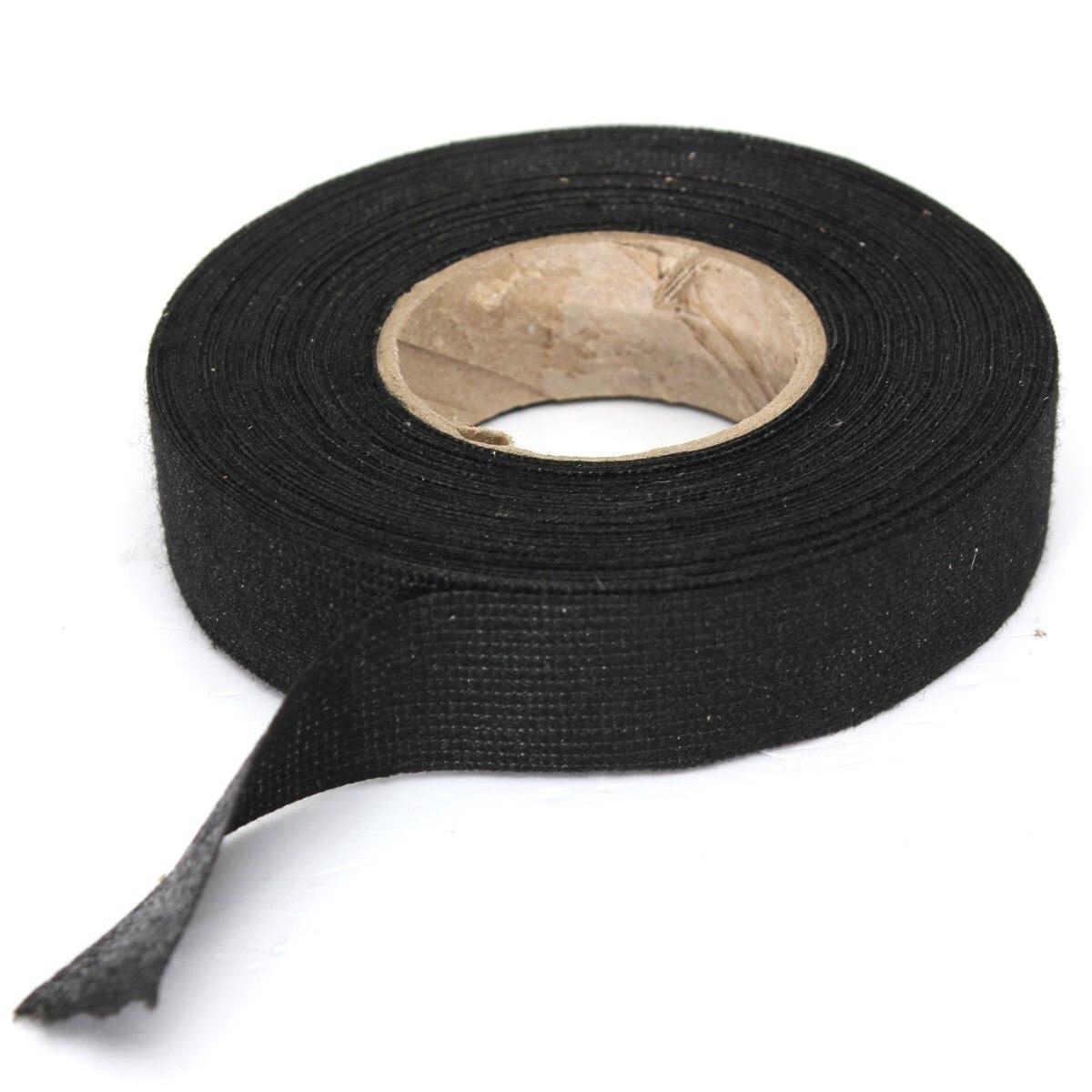 19 мм х 15 м Горячая клейкая матерчатая тканевая лента кабельный Станок Жгут проводов для автомобиля Авто сильная клейкая сила