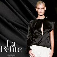 Custom Black White Silk Satin/charmeuse Fabric Color Printing and Dyeing Cloth A Senior Summer
