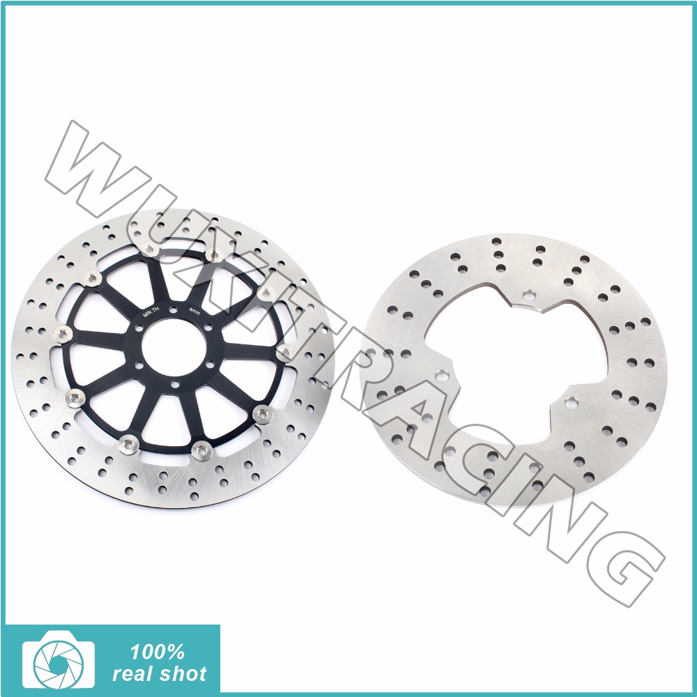 2pcs Full Set Front Rear Brake Discs Rotors for YAMAHA TZR 125 250 R RR 85-95 91 92 93 94 FZR 250 EXUP 87 88 FZX 250 Zeal 1991- motorcycle front and rear brake pads for yamaha fzr 400 fzr400 rrsp rr 1991 1992 brake disc pad