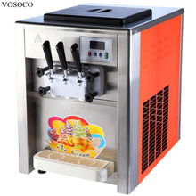 VOSOCO Ice cream machine Desktop soft ice cream cone machine 1800W 220V 50Hz high efficiency SANYO or Hitachi brand compressor