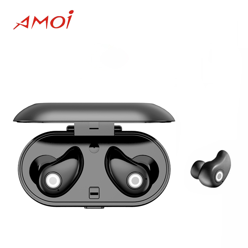 Amoi Bluetooth Wireless A8 Headset for Samsung/Xiaomi/Huawei with Bluetooth 4.2V Noise reduction Waterproof Sport Earphones