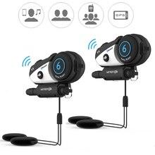 Vimoto oreillette Bluetooth V6 pour moto, casque découte stéréo, connexion Multipoint, BT, kit mains libres, Version anglaise