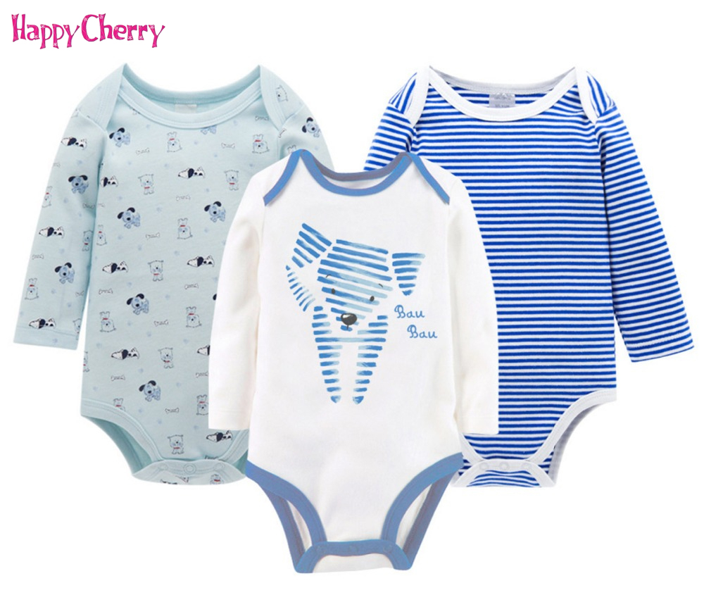 3 PCS/PACK Baby Rompers Long Sleeve Cotton Striped Newborn Unisex Jumpsuits Set Preemie Clothes 0-12 Months Boys Girls Rompers цена