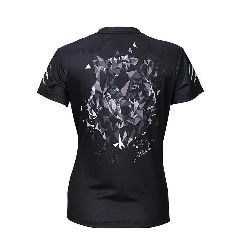 Спортивная одежда для бадминтона Kawasaki, женские футболки для настольного тенниса с круглым вырезом, дышащая черная футболка, бадминтон спорт, ST-S2115