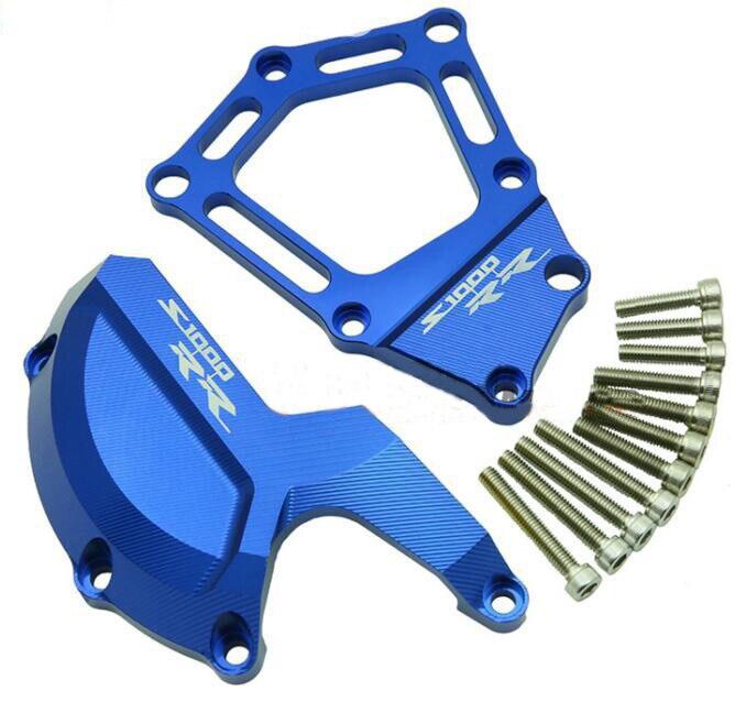 Мотоцикл двигатель боковая защитная крышка подходит для BMW S1000RR НР4 2010 - 2016 -- синий