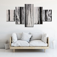 New Arrival Home Decor White Wood Grain Canvas Painting Artwork High Quality Poster Modular Wall Art