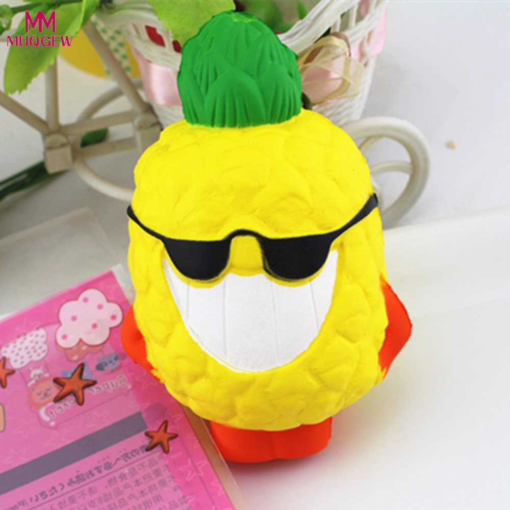 Toys Emoji pineapple Food Squishy Cake Stress Reliever Slime toys Scented Squeeze Slow Rising Fun Toy Relieve Stress Cure Gift