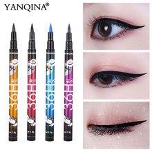 YANQINA 36 H, черный; из водонепроницаемого материала; жидкая подводка для глаз, макияж, красота шоу с длинным рукавом, Длительное Действие, подводка для глаз, карандаш для макияжа, инструменты для теней для век