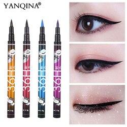 YANQINA 36 H, черный; из водонепроницаемого материала; жидкая подводка для глаз, макияж, красота шоу с длинным рукавом, Длительное Действие, подво...