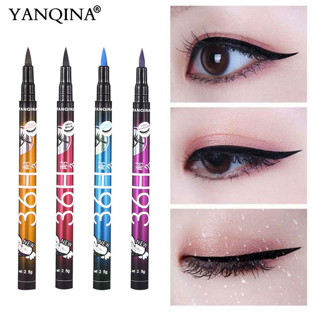 YANQINA 36H Black Waterproof Liquid Eyeliner Make Up Beauty Comestics Long-lasting Eye Liner Pencil Makeup Tools for eyeshadow