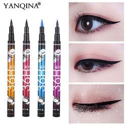 Yanqina 36H черная водостойкая жидкая подводка для глаз Косметика Стойкая подводка для глаз косметические карандаши для век