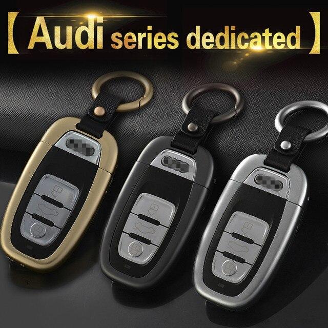 Автомобиль стайлинг Мода Автомобиль Из Алюминиевого Сплава Случае Ключ Оболочки В Том Числе брелоки Для Audi A4/A5/S5/A6/S6/A7/S7/A8/S8/Q5/SQ5/R8/RS5/RS7