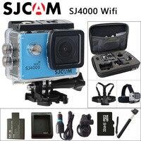 Оригинальный SJCAM SJ4000 Wi-Fi действие Камера 2.0 дюймов ЖК-дисплей Экран 1080 P HD Дайвинг 30 м Водонепроницаемый мини видеокамера SJ 4000 Cam Спорт DV