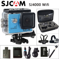 Original SJCAM SJ4000 WiFi Sport Action Camera Waterproof Camera Car Charger Holder Extra 1pcs Battery Battery